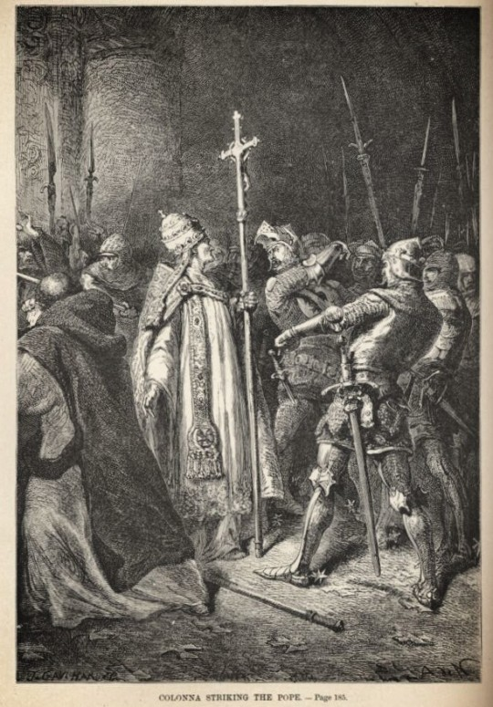 Colonna Striking the Pope