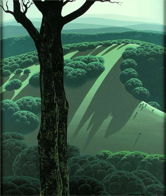 Green Hillside - Eyvind Earle
