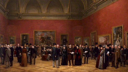 NPG 1833; Private View of the Old Masters Exhibition, Royal Academy, 1888 by Henry Jamyn Brooks