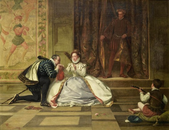 William Frederick Yeames - Queen Elizabeth and the Earl of Leicester 1865