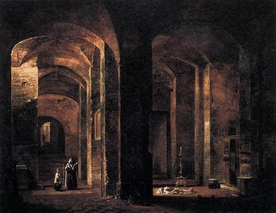 775px-François-Marius_Granet_-_Crypt_of_San_Martino_ai_Monti,_Rome_-_WGA10363