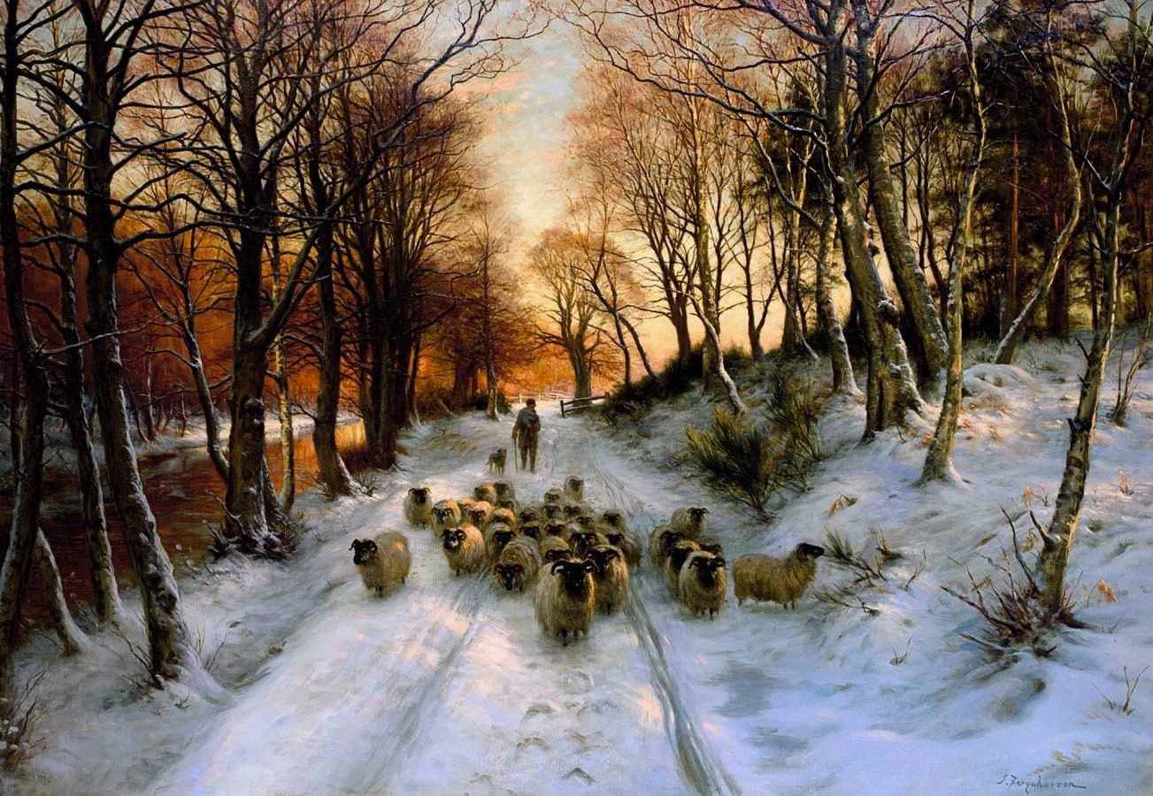 Joseph Farquharson - Through the Calm and Frosty Air