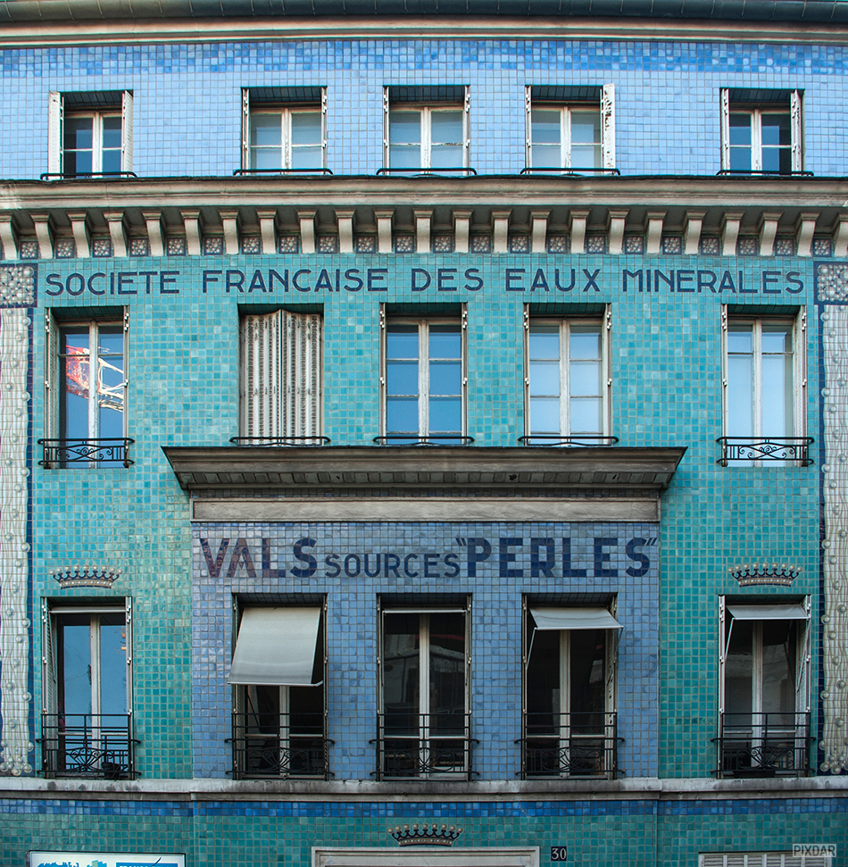 Faded french sign